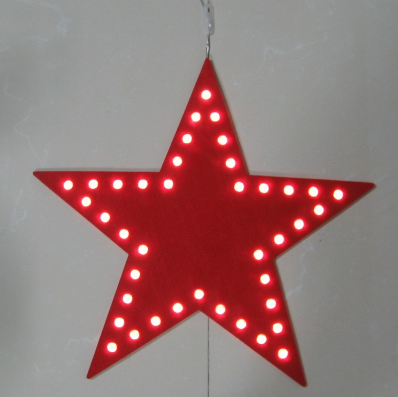 fy 002 b13 cheap christmas led star felt carpet light bulb lamp