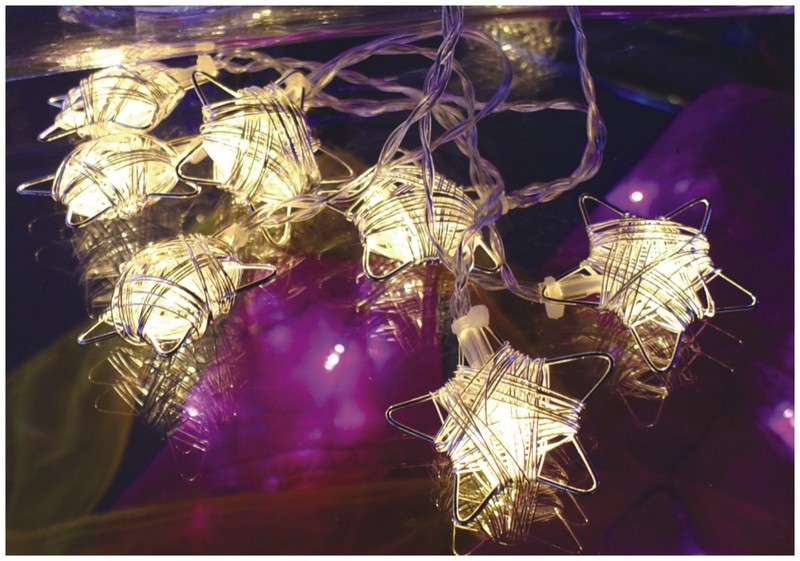 made in china  FY-009-F25 LED LIGHT CHAIN WITH STAR DECORATION  corporation